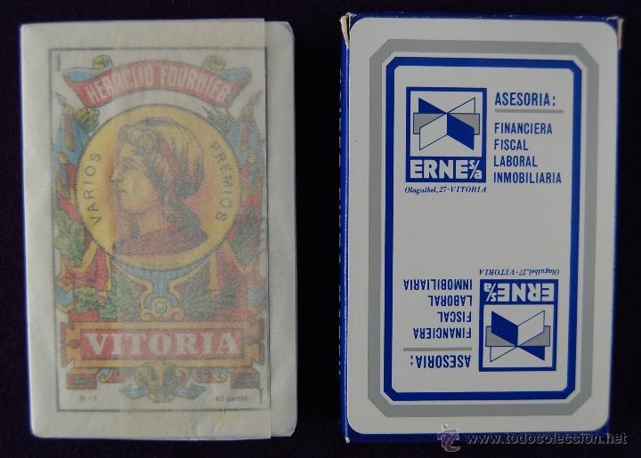 BARAJA FOURNIER PUBLICITARIA -ASESORIA ERNE- SIN USAR. (Juguetes y Juegos - Cartas y Naipes - Baraja Española)