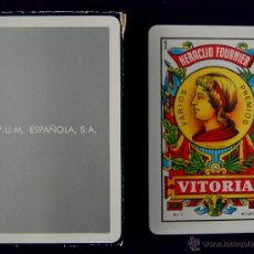 Barajas de cartas: BARAJA FOURNIER PUBLICITARIA -P.U.M.ESPAÑOLA- SIN USAR.. Lote 41988636