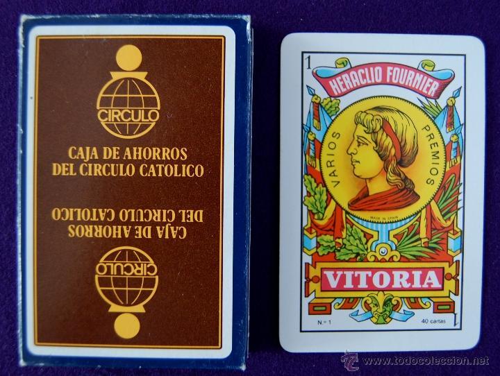 BARAJA FOURNIER PUBLICITARIA -CAJA DE AHORROS DEL CIRCULO CATOLICO- SIN USAR. (Juguetes y Juegos - Cartas y Naipes - Baraja Española)