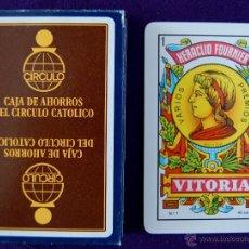 Barajas de cartas: BARAJA FOURNIER PUBLICITARIA -CAJA DE AHORROS DEL CIRCULO CATOLICO- SIN USAR.. Lote 41759654