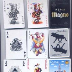 Barajas de cartas: 3 BARAJAS DE POKER DE MAGNO, SWEDEN Y DUBAI. Lote 41761640
