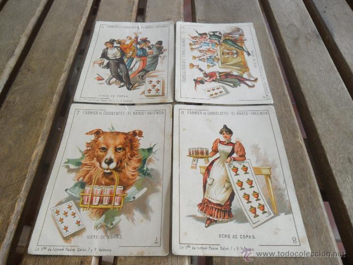 Barajas de cartas: BARAJA DE CARTAS COMPLETA FABRICA DE CHOCOLATES EL BARCO VALENCIA LA GRANDE - Foto 3 - 41781996