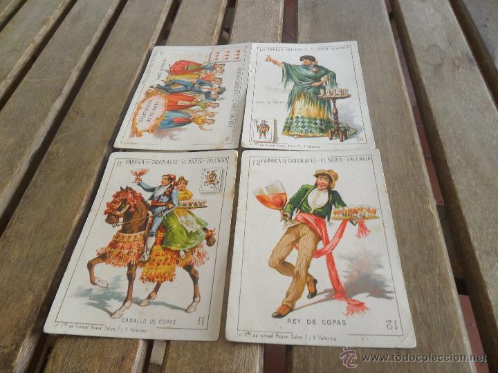 Barajas de cartas: BARAJA DE CARTAS COMPLETA FABRICA DE CHOCOLATES EL BARCO VALENCIA LA GRANDE - Foto 6 - 41781996