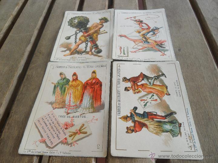 Barajas de cartas: BARAJA DE CARTAS COMPLETA FABRICA DE CHOCOLATES EL BARCO VALENCIA LA GRANDE - Foto 15 - 41781996