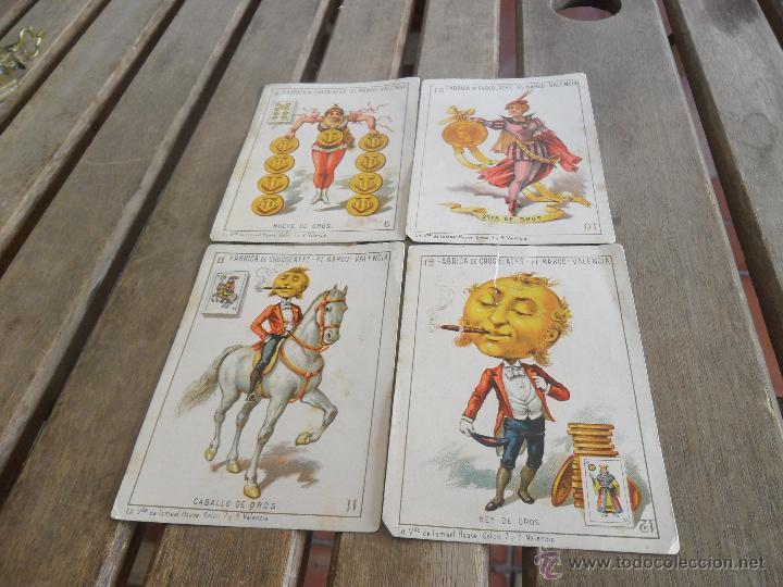 Barajas de cartas: BARAJA DE CARTAS COMPLETA FABRICA DE CHOCOLATES EL BARCO VALENCIA LA GRANDE - Foto 23 - 41781996