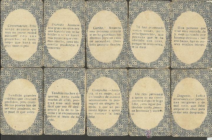 Barajas de cartas: BARAJA DE PREGUNTAS Y RESPUESTAS- COMPLETA 40 CARTAS- TAMAÑO MEDIANO MIDE 4,4 X 6,8 CM. -(CR-313) - Foto 10 - 41787003