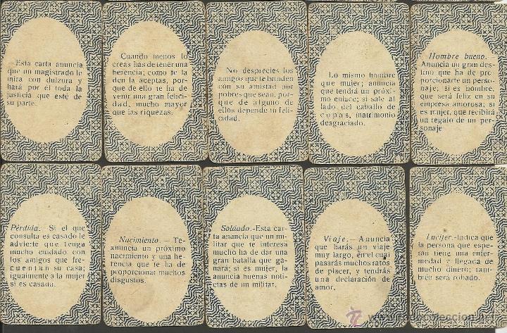 Barajas de cartas: BARAJA DE PREGUNTAS Y RESPUESTAS- COMPLETA 40 CARTAS- TAMAÑO MEDIANO MIDE 4,4 X 6,8 CM. -(CR-313) - Foto 12 - 41787003