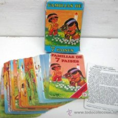 Barajas de cartas: FAMILIAS DE 7 PAISES HF HERACLIO FOURNIER - COMPLETA. Lote 41797647