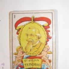 Barajas de cartas: BARAJA DE CARTAS DE CHOCOLATES SELECTOS EVARISTO JUNCOSA HIJO DE BARCELONA. ES DE JUAN TENORIO. Lote 41799476