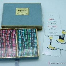 Barajas de cartas: BARAJA DOBLE PÓKER CONGRESS PLAYING CARDS USA COMPLETA. Lote 41800173
