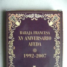 Barajas de cartas: BARAJA FRANCESA.XV ANIVERSARIO AFEDA.N-43. Lote 41841941