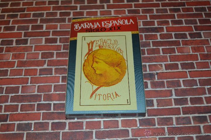 BARAJA NAIPES FOURNIER BARAJA ESPAÑOLA SIGLO XIX (Juguetes y Juegos - Cartas y Naipes - Baraja Española)
