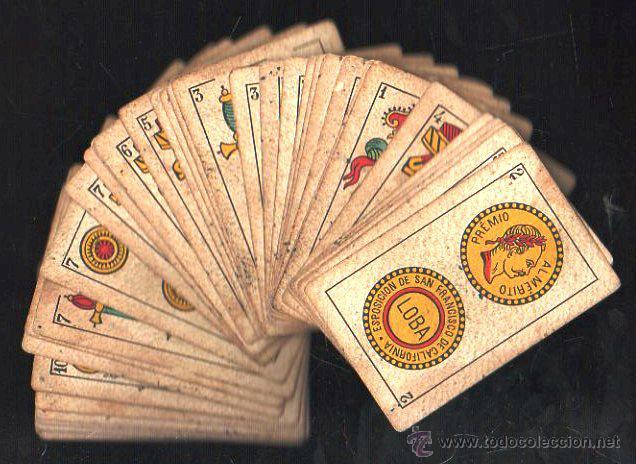 BARAJA DE CARTAS DE LA LOBA. JUAN ROURA. 1928. COMPLETA. VER FOTOS (Juguetes y Juegos - Cartas y Naipes - Baraja Española)
