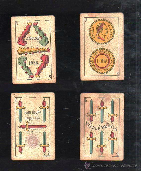 Barajas de cartas: BARAJA DE CARTAS DE LA LOBA. JUAN ROURA. 1928. COMPLETA. VER FOTOS - Foto 3 - 42191072