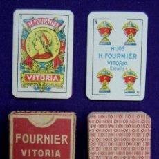 Barajas de cartas: BARAJA FOURNIER. LILIPUT 40 CARTAS. ESTUCHE RELIZADO POR LARRAMENDI - VITORIA. AÑO 1932-40. SIN USAR. Lote 42310094