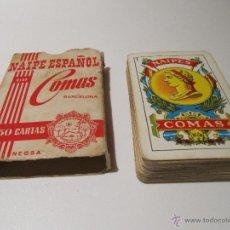 Barajas de cartas: BARAJA COMAS NAIPE ESPAÑOL 50 CARTAS PUBLICIDAD PINTURAS VALENTINE. Lote 42380097