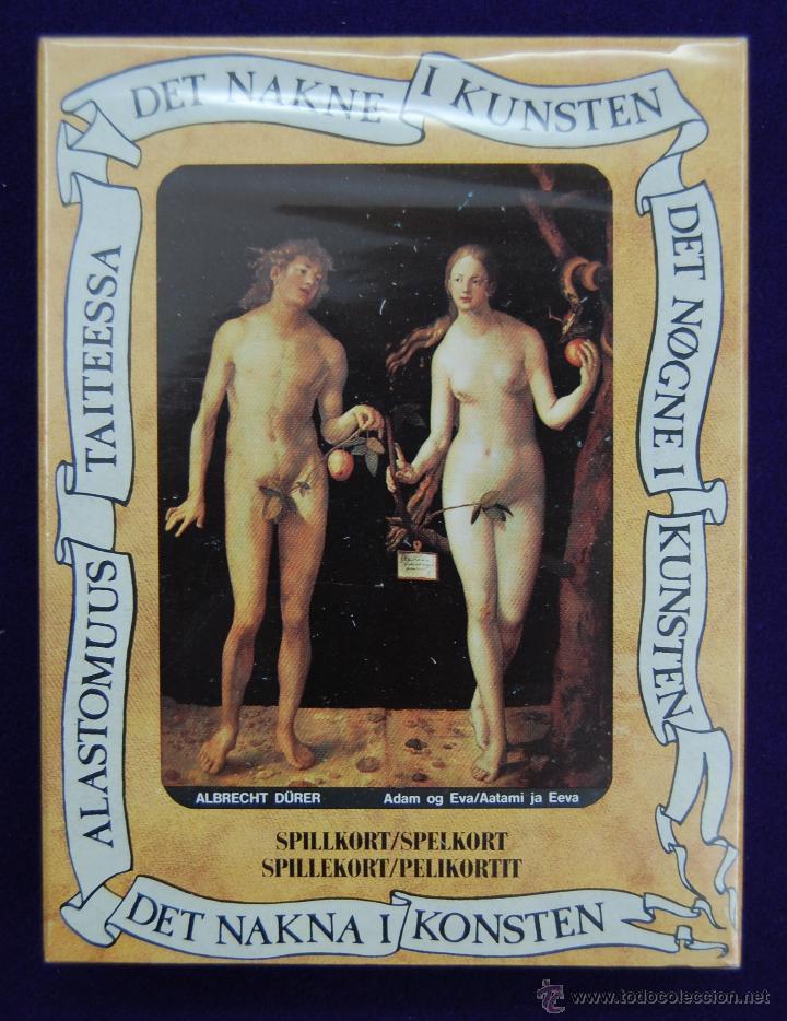 BARAJA EL DESNUDO DEL ARTE FOURNIER, RARA CON TEXTOS ESCANDINAVOS. 1989. 52+2 CARTAS. PRECINTADA (Juguetes y Juegos - Cartas y Naipes - Otras Barajas)