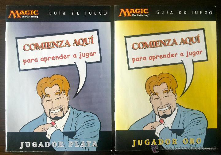 2 GUÍAS DE JUEGO MAGIC, JUGADOR PLATA + JUGADOR ORO. COMIENZA AQUÍ PARA APRENDER A JUGAR. COMIC. (Juguetes y Juegos - Cartas y Naipes - Otras Barajas)