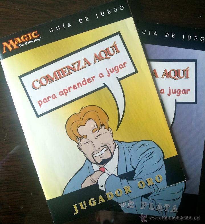 Barajas de cartas: 2 GUÍAS DE JUEGO MAGIC, JUGADOR PLATA + JUGADOR ORO. COMIENZA AQUÍ PARA APRENDER A JUGAR. COMIC. - Foto 5 - 42414247