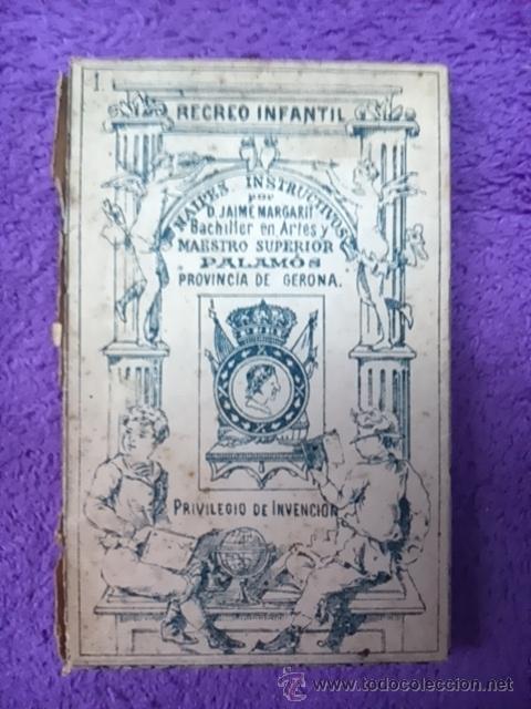PALAMOS, NAIPES INSTRUCTIVOS. D. JAIME MARGARIT 1888 (Juguetes y Juegos - Cartas y Naipes - Otras Barajas)