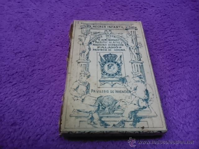 Barajas de cartas: PALAMOS, NAIPES INSTRUCTIVOS. D. JAIME MARGARIT 1888 - Foto 2 - 42425236