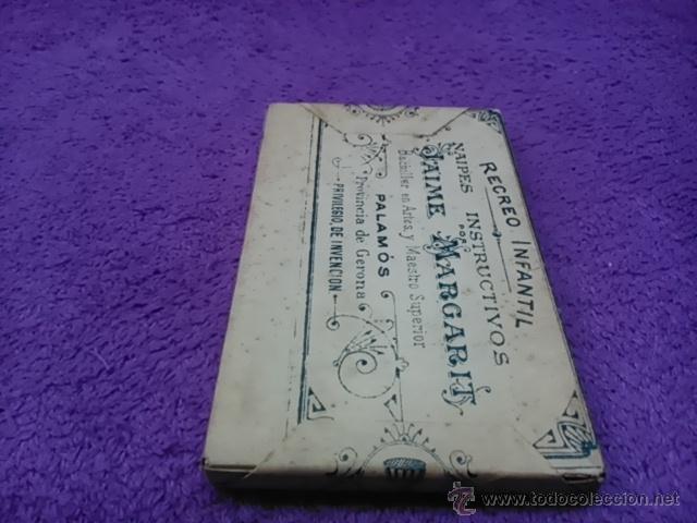 Barajas de cartas: PALAMOS, NAIPES INSTRUCTIVOS. D. JAIME MARGARIT 1888 - Foto 3 - 42425236