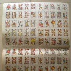 Barajas de cartas: CG- JUEGO BARAJA DE CARTAS - NAIPES COMICOS - EN HOJA PARA CORTAR O CORTADOS. Lote 42675932