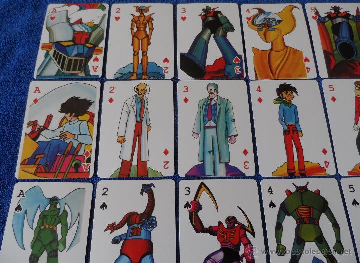 Barajas de cartas: Mazinger Z - Poker - micromo ¡Impecable! - Foto 3 - 91660064