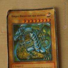 Barajas de cartas: CARTA BARAJA KONAINI YU GI ON TRADING CARD GAME.DRAGON BLANCO CON OJOS AZULINOS. Lote 42768654