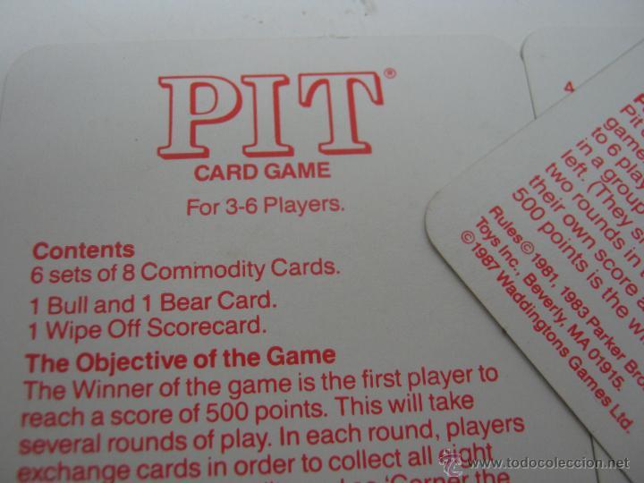 Barajas de cartas: Rara baraja cartas inglesa PIT - con instrucciones - Foto 3 - 42830748