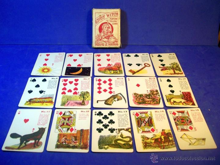 Barajas de cartas: TAROT LA BRUJA GITANA MADAME LE NORMAND 1920 BARAJA OCULTISMO ESOTERISMO - Foto 5 - 42965390