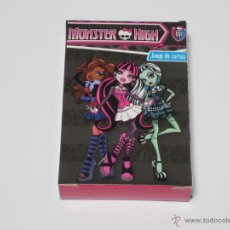 Barajas de cartas: JUEGO DE CARTAS MONSTER HIGH. Lote 43030093