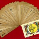 Barajas de cartas: BARAJA CLASICA ESPAÑOLA , COMPLETA 48 NAIPES, ANTIGUA , AS DE OROS CAPITOLIO HABANA CUBA, ORIGINAL. Lote 43060647