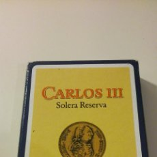 Barajas de cartas: JUEGO DE NAIPES ESPAÑOL DE HERACLIO FOUNIER. VITORIA. PROPAGANDA DE CARLOS III.. Lote 43063255