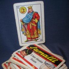 Barajas de cartas: BARAJA PUBLICIDAD CHOCOLATE SAMALLI. ALICANTE. BARAJA 50 CARTAS PERO FALTAN 5 Y HAY 2 REPETIDAS. Lote 43093231
