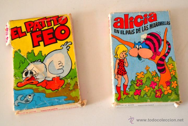 Barajas de cartas: LOTE DE 2 BARAJAS INFANTILES * EL PATITO FEO + ALICIA EN EL PAIS DE LAS MARAVILLAS * NAIPES COMAS - Foto 2 - 43188135