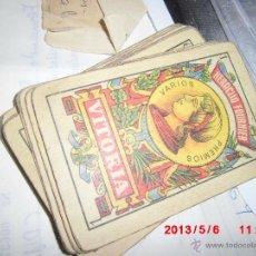 Barajas de cartas: BARAJA ANTIGUA ESPAÑOLA INCOMPLETA 16 CARTAS NAIPES. Lote 43193860