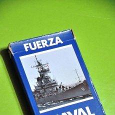 Barajas de cartas: BARAJA DE CARTAS NAIPES HERACLIO FOURNIER FUERZA NAVAL. Lote 52616896