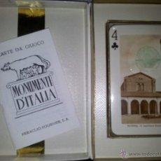 Barajas de cartas: JUEGO DE CARTAS DE ALITALIA AÑOS 70 CON PRECINTO. Lote 43228570