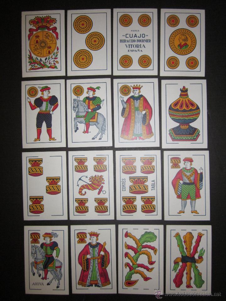 Barajas de cartas: BARAJA CARTAS CUAJO HERACLIO FOURNIER- AÑO 1962- 28 CARTAS , 7 POR PALO - (CR-607-BIS ) - Foto 2 - 43349921