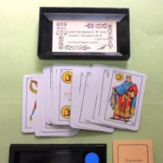 Barajas de cartas: CONJUNTO DE BARAJA Y FICHAS. MUS. Lote 43399261
