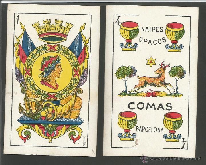 BARAJA CARTAS NAIPES COMAS - LA REPUBLICA - COMPLETA 48 CARTAS - (CR-606) (Juguetes y Juegos - Cartas y Naipes - Baraja Española)