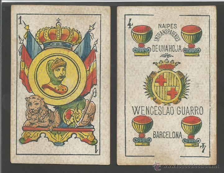 BARAJA WENCESLAO GUARRO - FALTA 1 CARTA 2 DE BASTOS - (CR-607) (Juguetes y Juegos - Cartas y Naipes - Baraja Española)