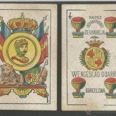 Barajas de cartas: BARAJA WENCESLAO GUARRO - FALTA 1 CARTA 2 DE BASTOS - (CR-607). Lote 43491309