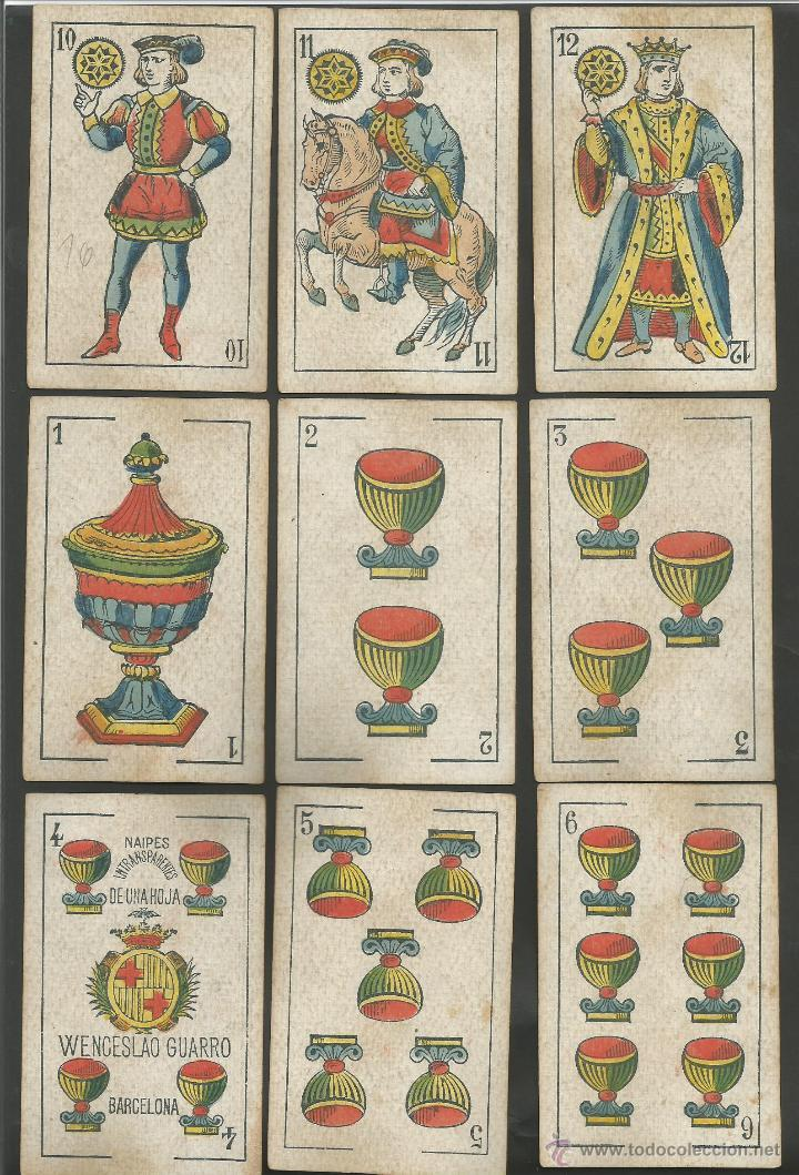 Barajas de cartas: BARAJA WENCESLAO GUARRO - FALTA 1 CARTA 2 DE BASTOS - (CR-607) - Foto 3 - 43491309