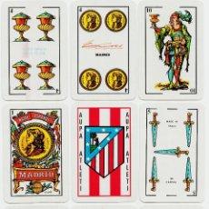 Barajas de cartas: JUEGO DE NAIPES -AUPA ATLETI- EUROGRÉS 1ª. NAIPERÍA ESPAÑOLA DESCONOCIDA, 1988.. Lote 43510401