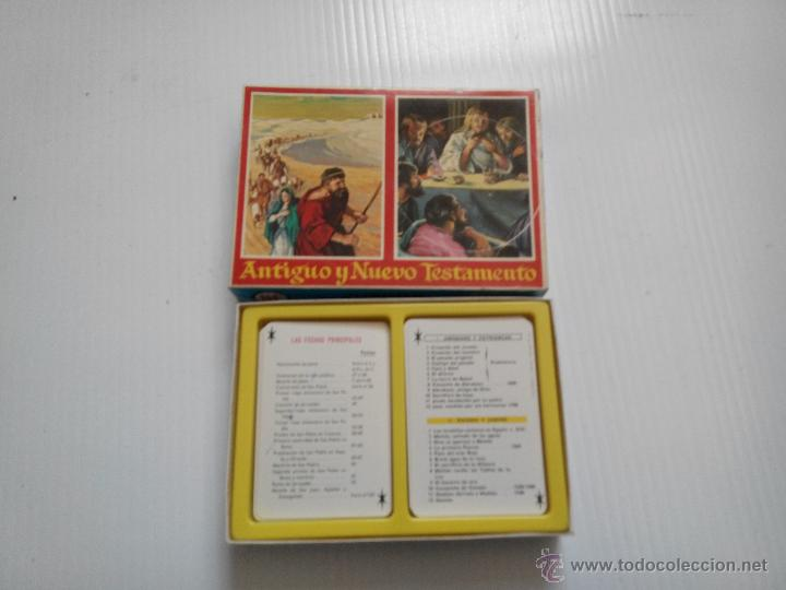 DOBLE BARAJA DE FOURNIER ANTIGUO Y NUEVO TESTAMENTO (Juguetes y Juegos - Cartas y Naipes - Barajas Infantiles)