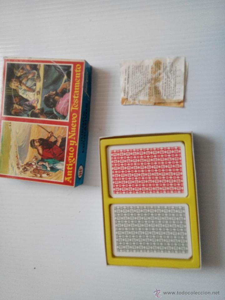 Barajas de cartas: doble baraja de fournier antiguo y nuevo testamento - Foto 2 - 43515877