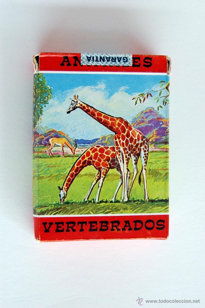 ANTIGUA BARAJA INFANTIL DE FOURNIER. ANIMALES VERTEBRADOS. VIDA Y COLOR. 1968 (Juguetes y Juegos - Cartas y Naipes - Barajas Infantiles)