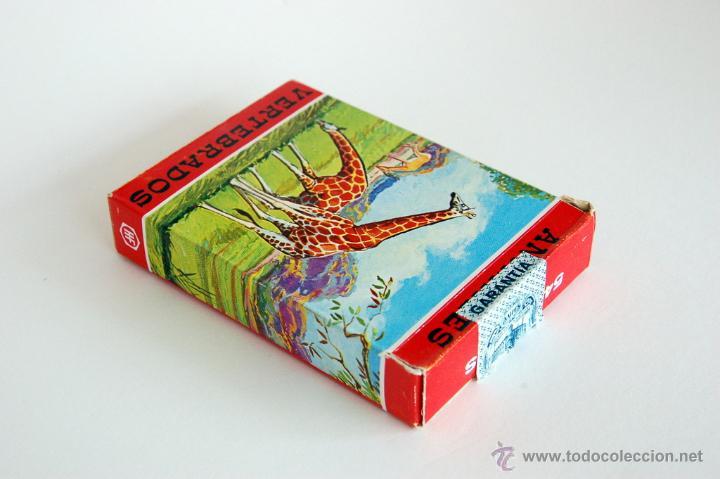 Barajas de cartas: Antigua Baraja infantil de Fournier. Animales Vertebrados. Vida y Color. 1968 - Foto 4 - 43544392